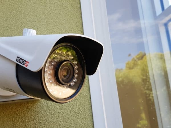 Photograph of one of the different cameras for your home: a bullet camera